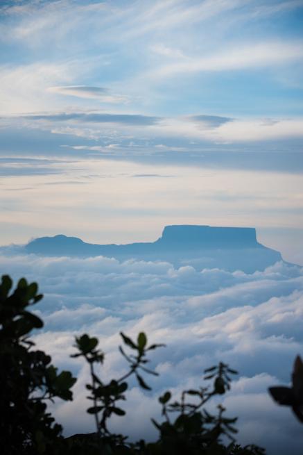 カナイマ国立公園で雲海に浮かぶテプイ