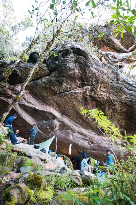 アウヤンテプイで宿泊した巨石