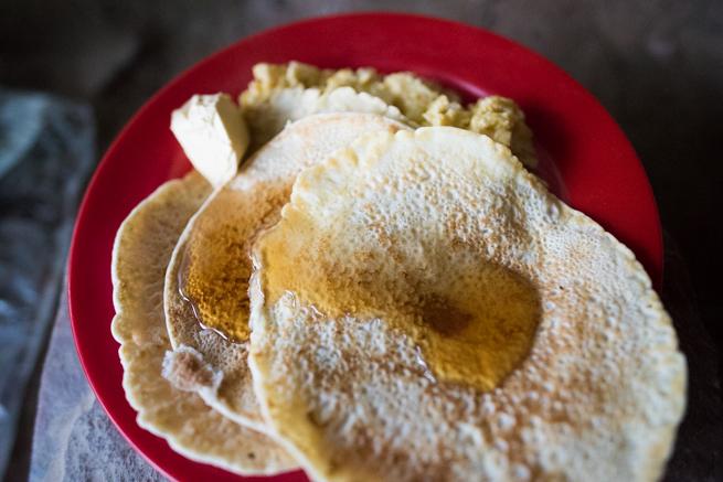 アウヤンテプイ3日目の朝ご飯