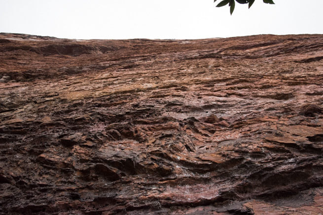 アウヤンテプイの断崖絶壁を見上げてみる