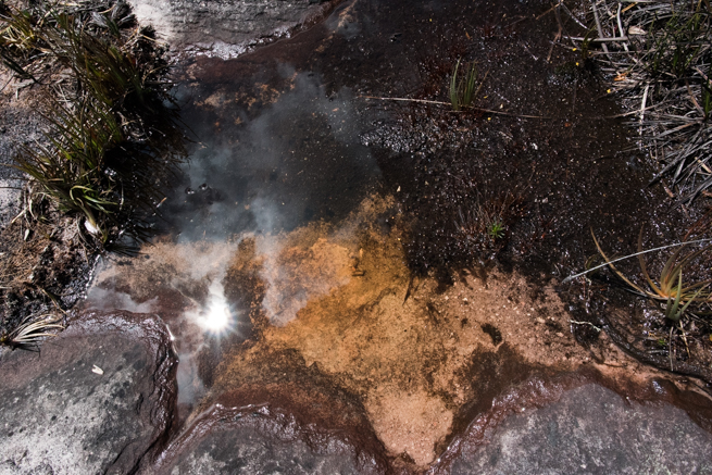 アウヤンテプイの頂上にある水たまり