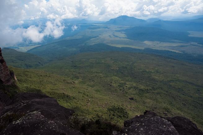 アウヤンテプイの最高地点からの景色