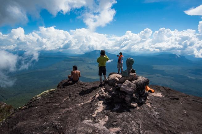 アウヤンテプイの最高地点の様子