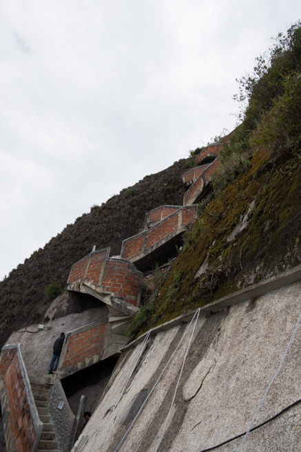 コロンビアの巨石の階段