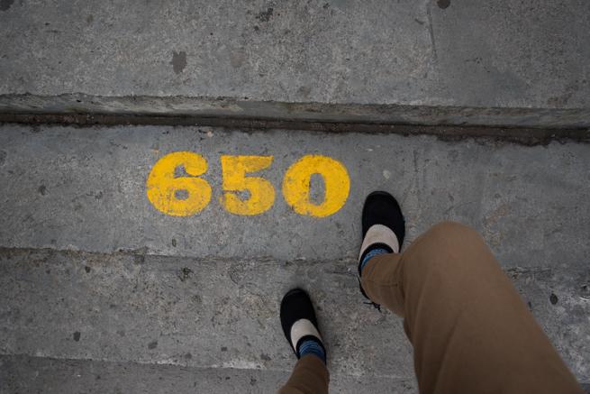 650段目の階段