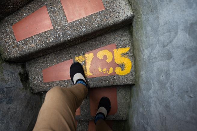 725段目の階段