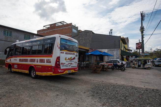 グアタペのバス発着所