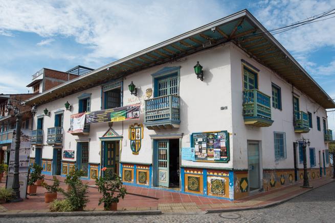 グアタペのカラフルな建物