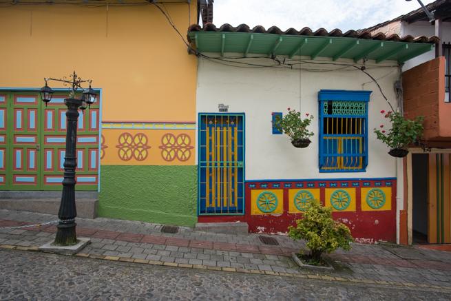 コロンビアのグアタペの民家