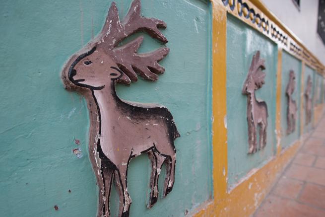 コロンビアのグアタペの鹿の絵