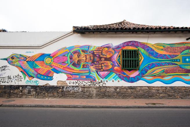 コロンビアの首都ボゴタのアート