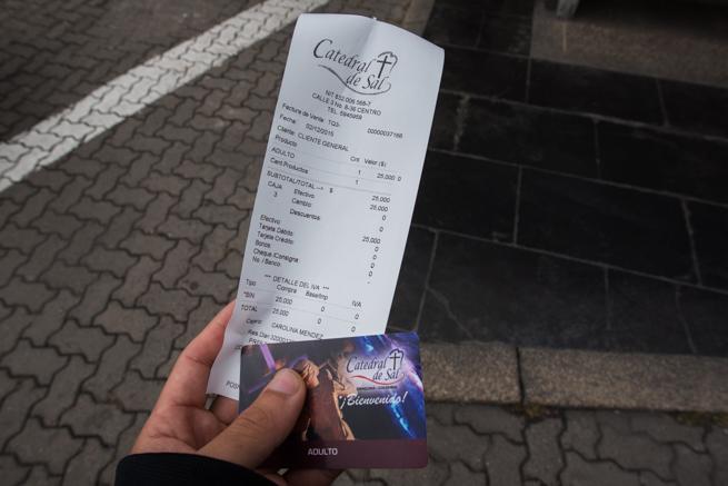 コロンビア・シパキラの塩の教会のチケット