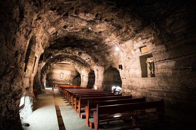 コロンビア・シパキラの塩の教会の礼拝堂