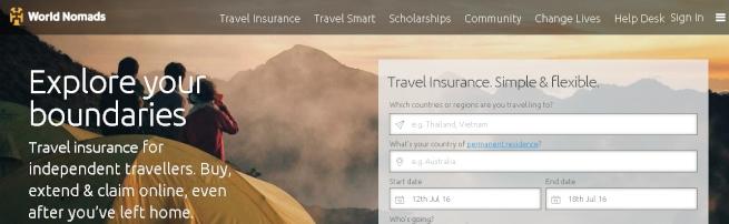 World Nomadsのトップページ