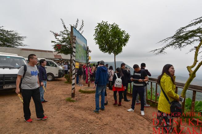 ケニアのグレート・リフト・バレーに集まった中国人旅行者