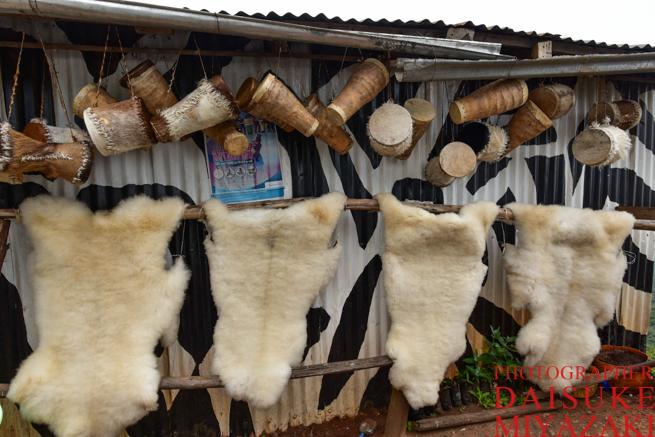 ケニアの毛皮お土産