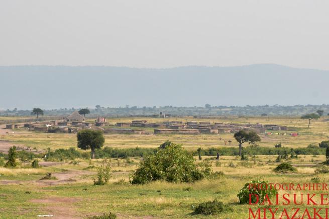 マサイマラ国立公園の集落