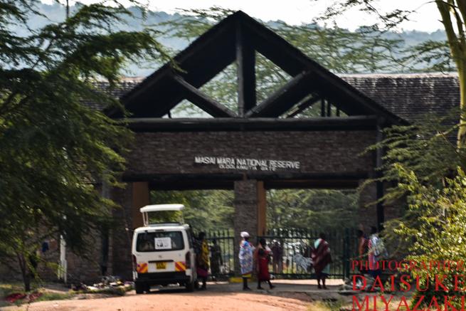 マサイマラ国立公園の入り口ゲート