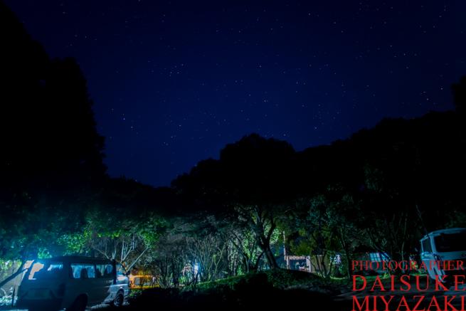 マサイマラ国立公園のキャンプ場の夜