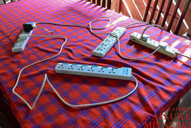 マサイマラ国立公園のホテルの充電器