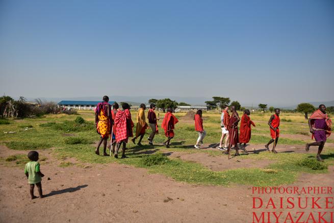 マサイ族の歓迎の儀式
