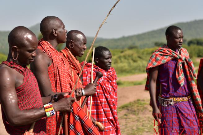 マサイ族の男性たち