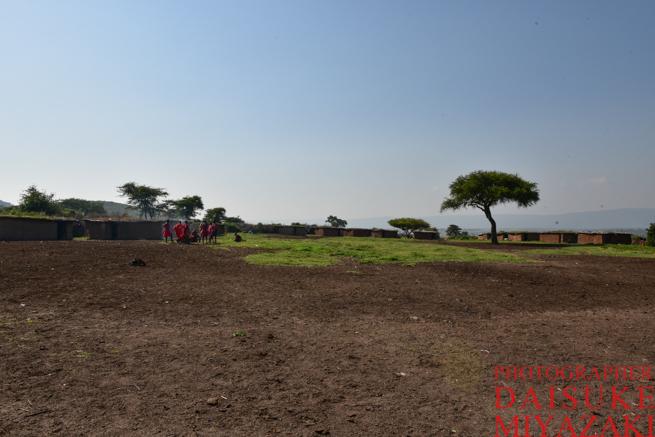 マサイ族の村の中庭