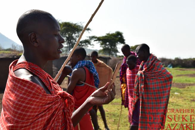 マサイ族の男たち