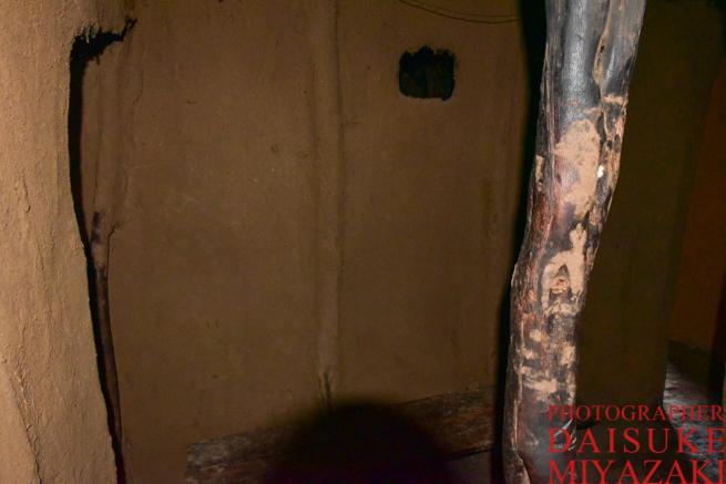 マサイ族の家の壁