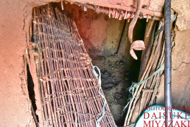 マサイ族の仔牛用の部屋