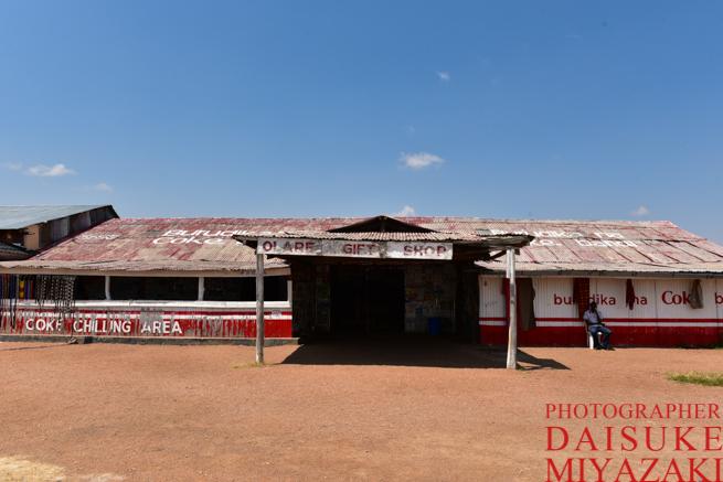 マサイマラの途中のお土産物屋