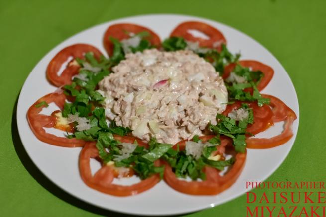 カバック村の野菜サラダ