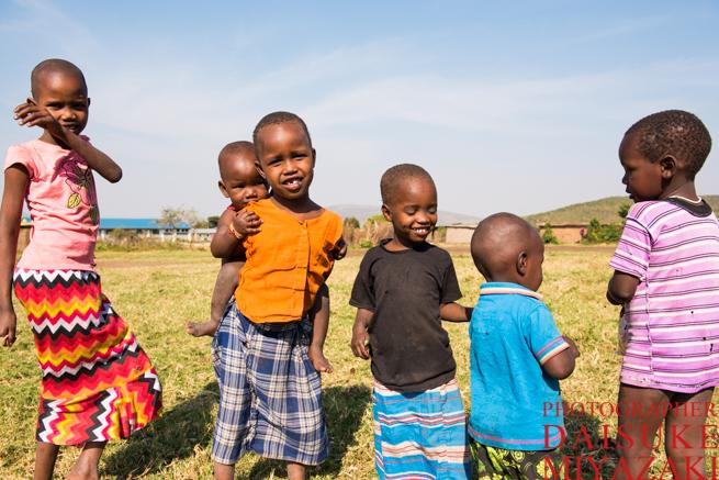 マサイ村の子供
