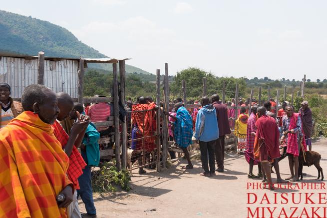マサイ族のマーケット