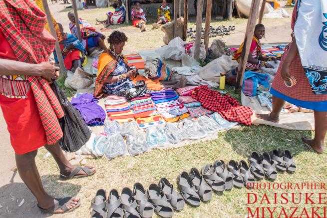 マサイ族の露天
