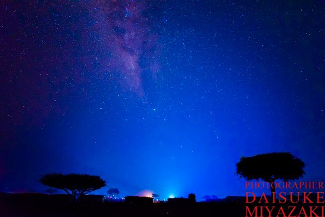 マサイ族の村で撮影した星空