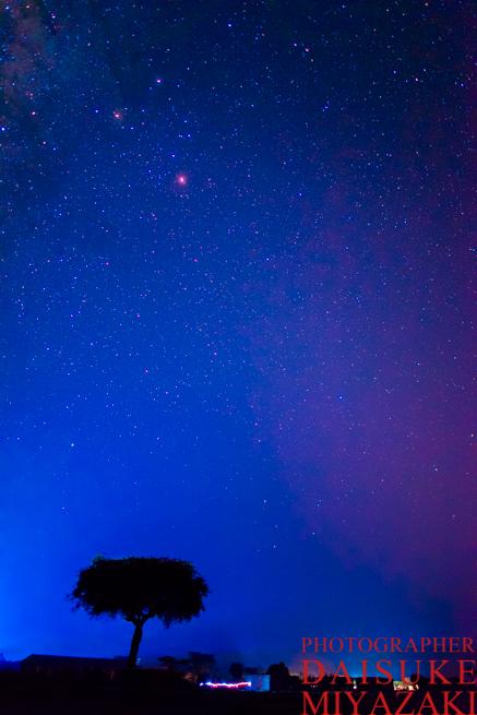 マサイ族の村の星空