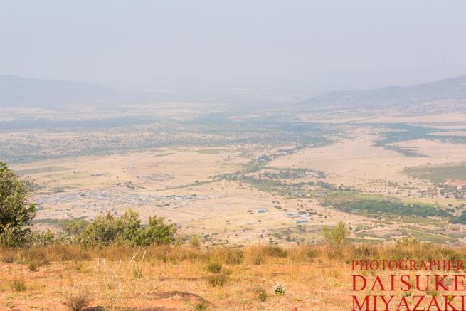 マサイ村の山頂からの眺め