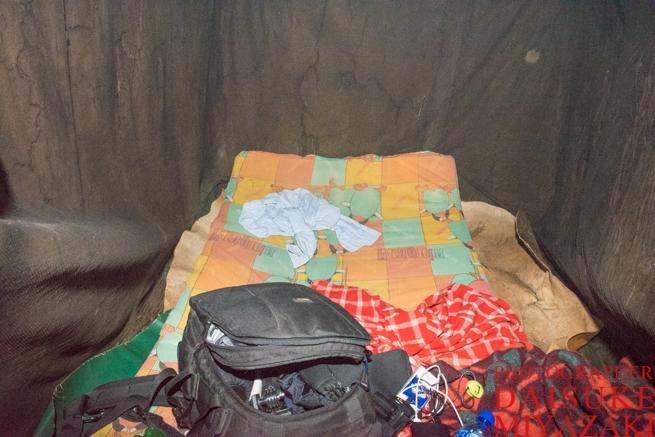 マサイ族の家の客室