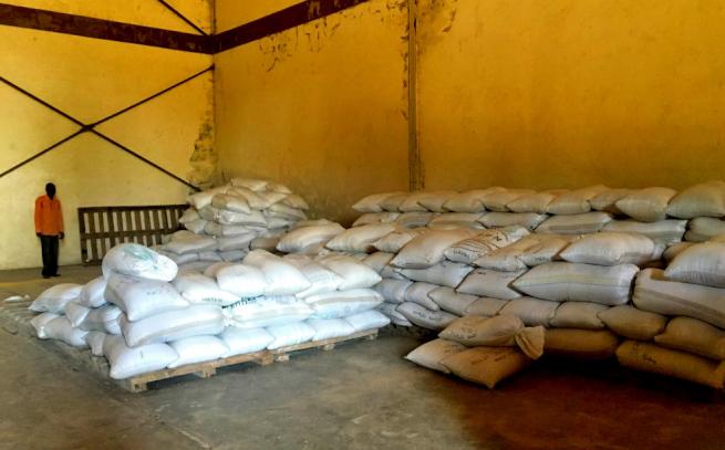 ケニアの大豆の貯蔵施設