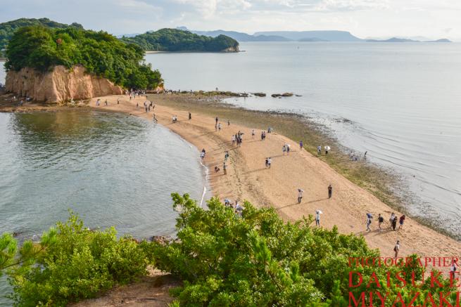 小豆島に現れる砂浜エンジェルロード