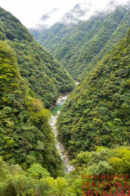 徳島県の渓谷