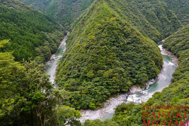 祖谷の渓谷