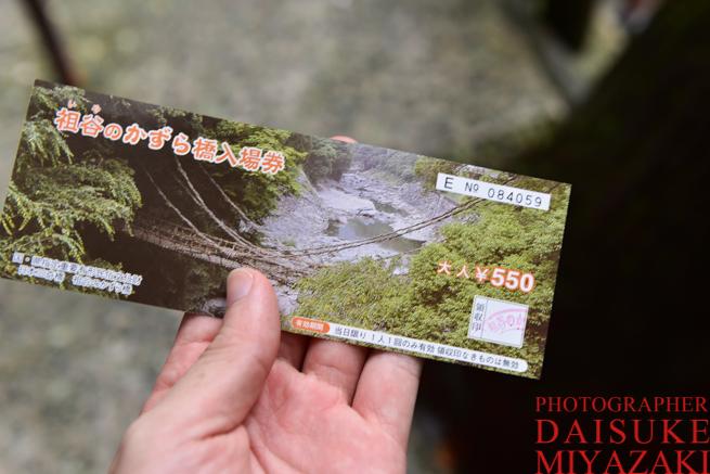 かずら橋のチケット