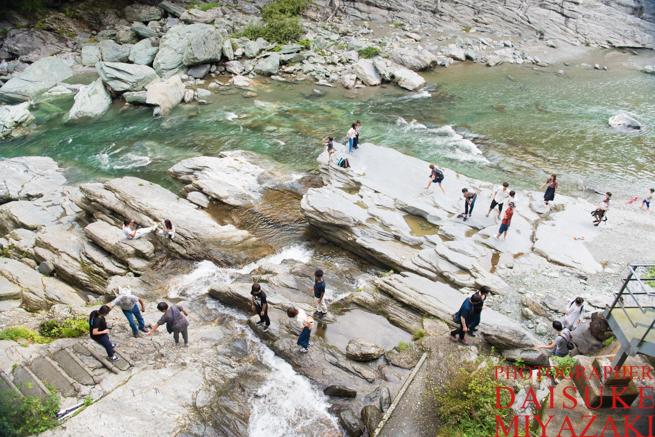 祖谷渓谷の川