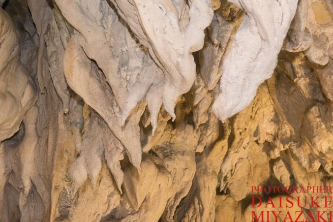 龍河洞のソフトクリームみたいな鍾乳洞