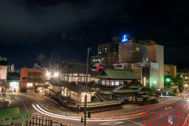 道後温泉を夜撮影