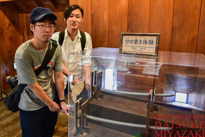 松山城の日本刀コーナー