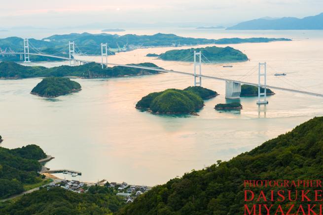 展望台からしまなみ海道