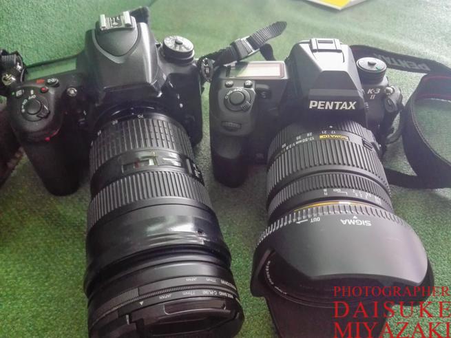 Nikonとペンタックスの一眼レフカメラ